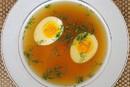 Бульон говяжий с яйцом (350мл)