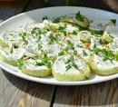 Закуска из кабачков под чесночным соусом (130 гр)