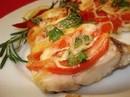 Треска запечённая с помидором (100/30г)
