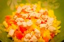 Салат куриный с ананасом и соусом карри (130гр)