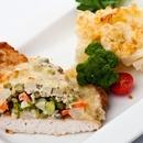 Филе индейки запечёное с овощами ппод горчичным соусом