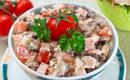 Салат из ветчины и грибов (130гр)